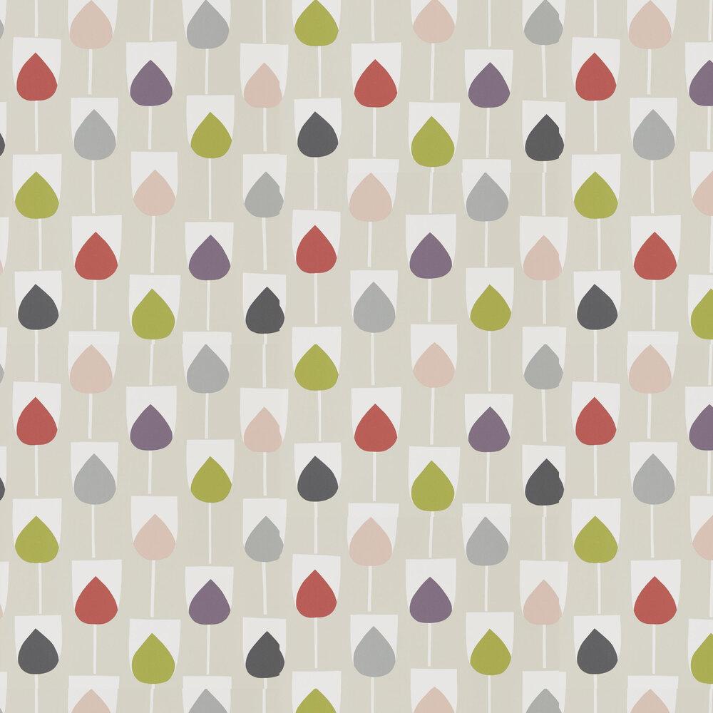 Sula Wallpaper - Spice, Rose and Granite - by Scion