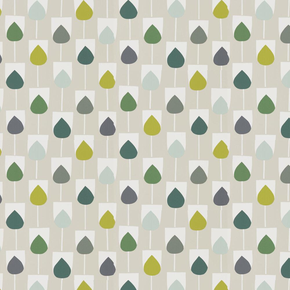 Scion Sula Juniper, Kiwi and Hemp Wallpaper - Product code: 111321