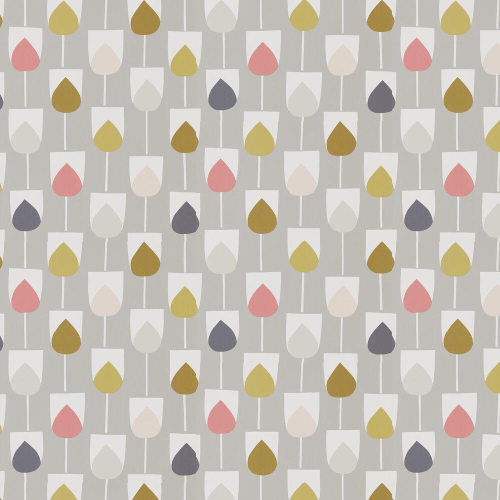 Sula Wallpaper - Flamingo, Honey and Linen - by Scion