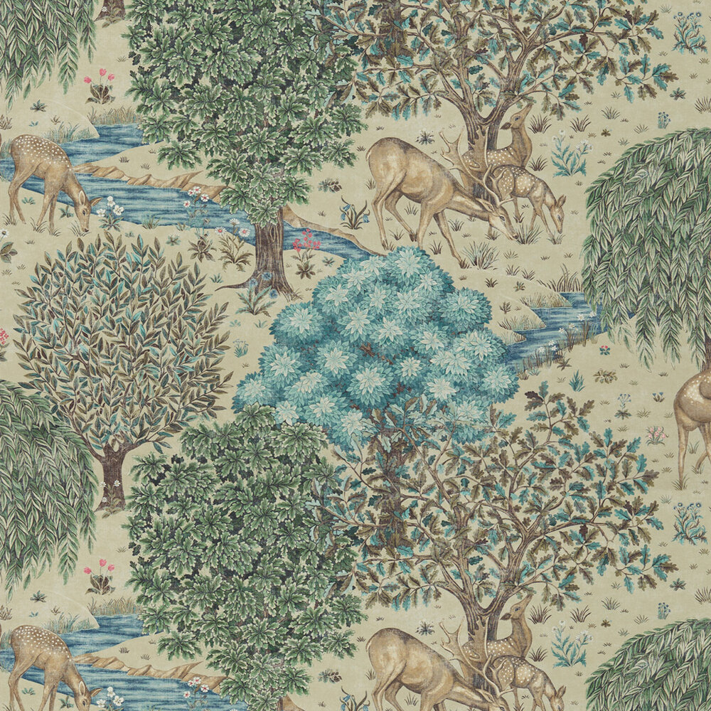 The Brook  Wallpaper - Linen - by Morris
