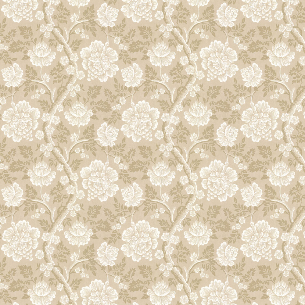 Gustav Wallpaper - Beige - by Little Greene