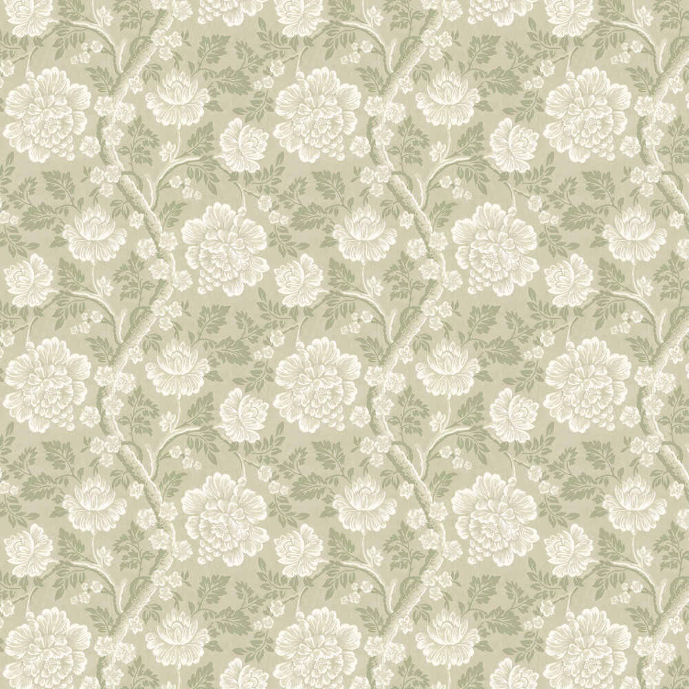 Little Greene Gustav Sage Green Wallpaper - Product code: 0247GUDALAR