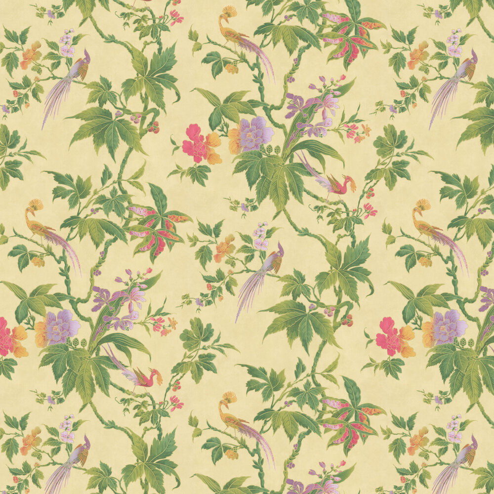 Little Greene Paradise Pale Yellow Wallpaper - Product code: 0247PASUNRI
