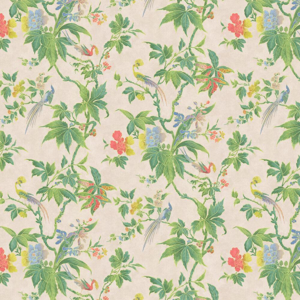 Little Greene Paradise Cream Wallpaper - Product code: 0247PAFEATH