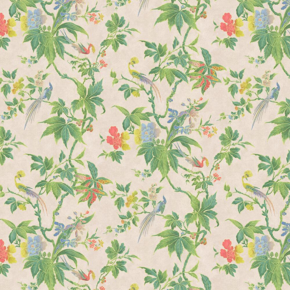 Paradise Wallpaper - Cream - by Little Greene