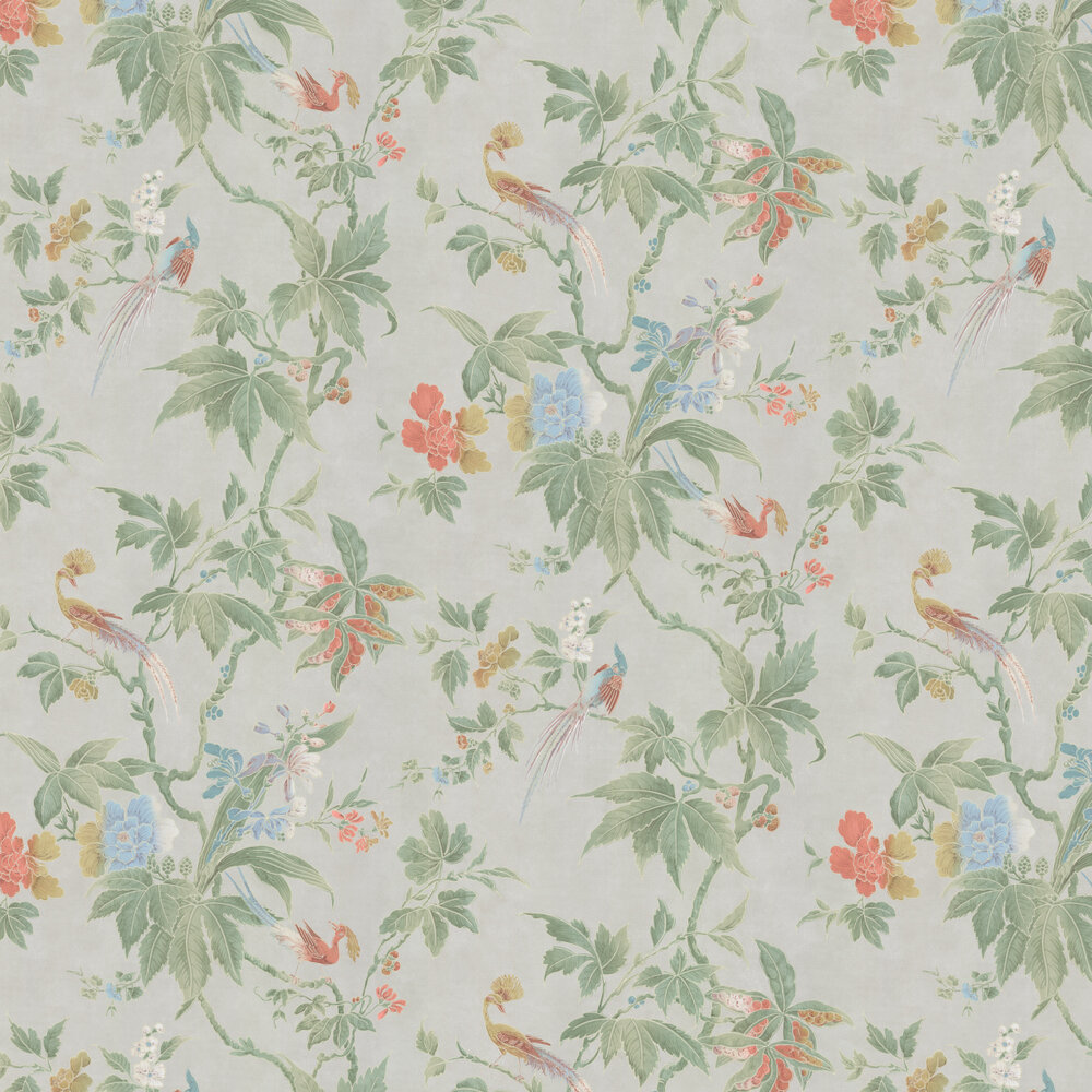 Little Greene Paradise Pale Grey Wallpaper - Product code: 0247PADUSKZ