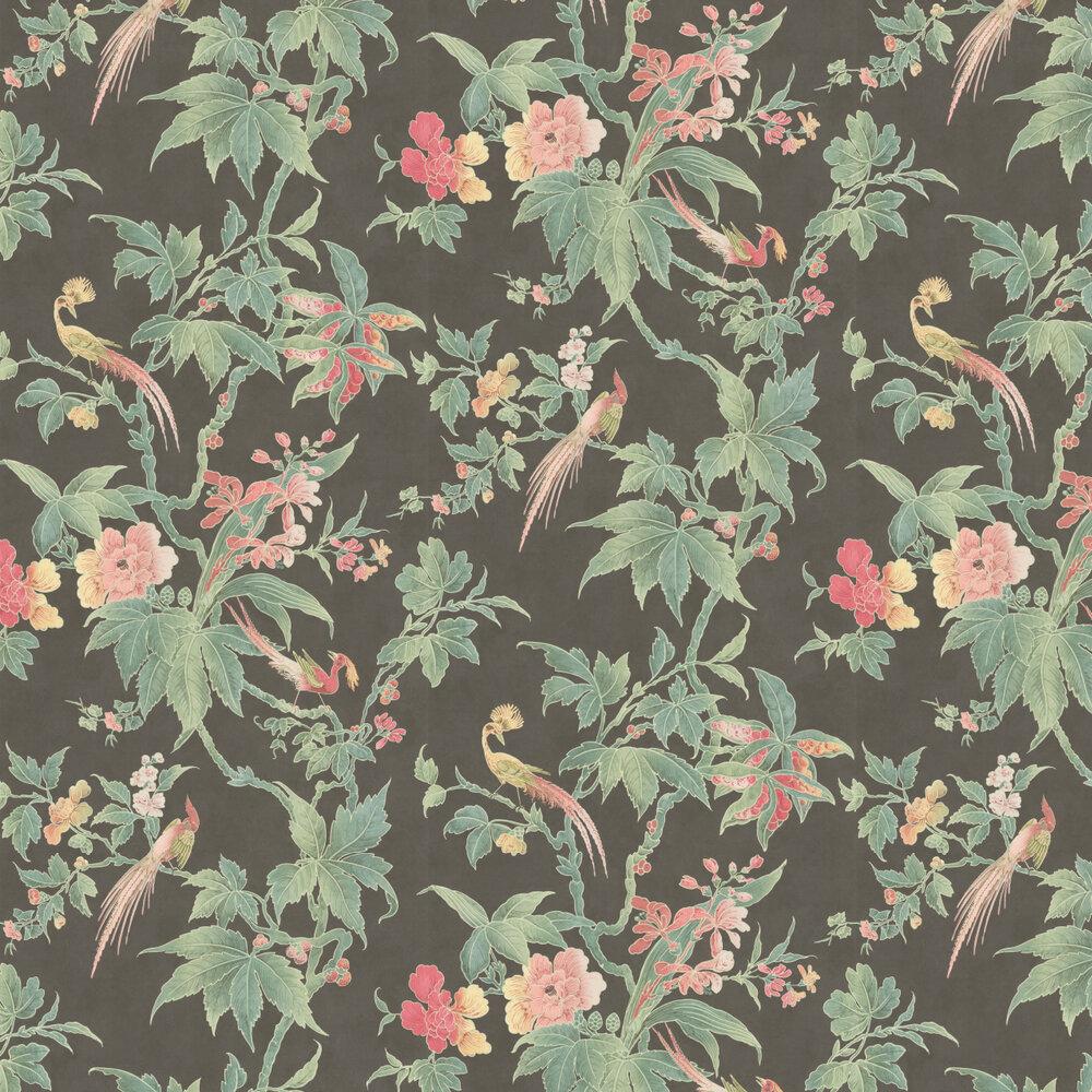 Paradise Wallpaper - Ebony - by Little Greene