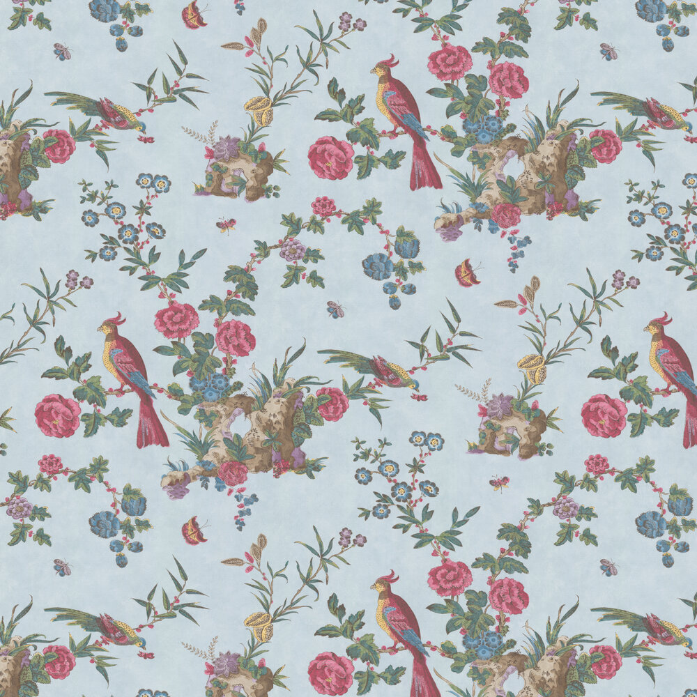 Little Greene Darwin Azure Blue Wallpaper - Product code: 0247DAAZURE