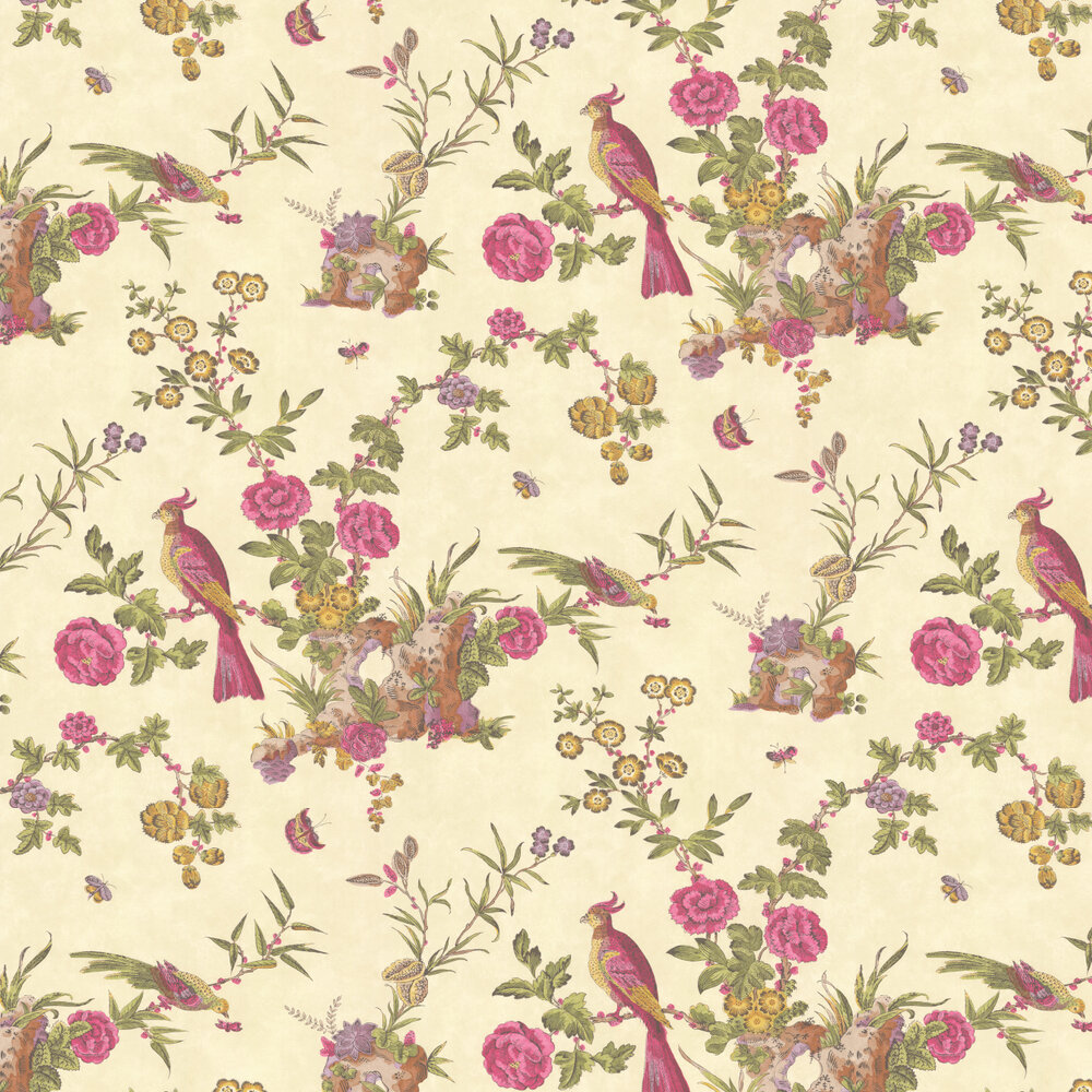 Darwin Wallpaper - Pale Yellow - by Little Greene