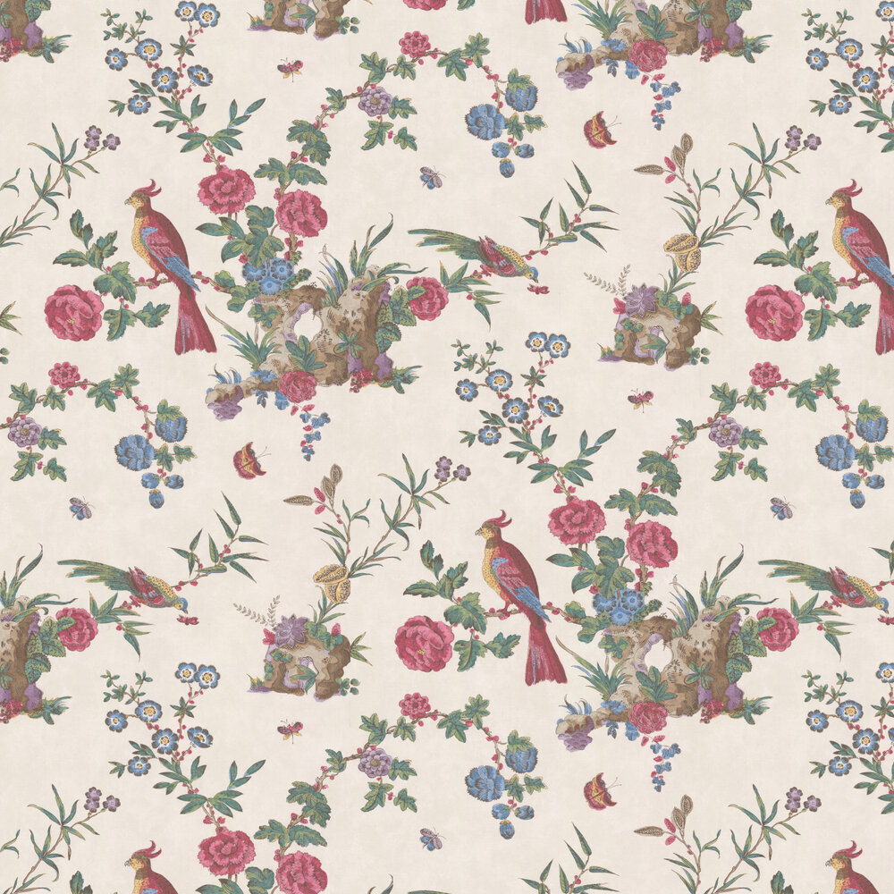 Little Greene Darwin Off White Wallpaper - Product code: 0247DASEREI