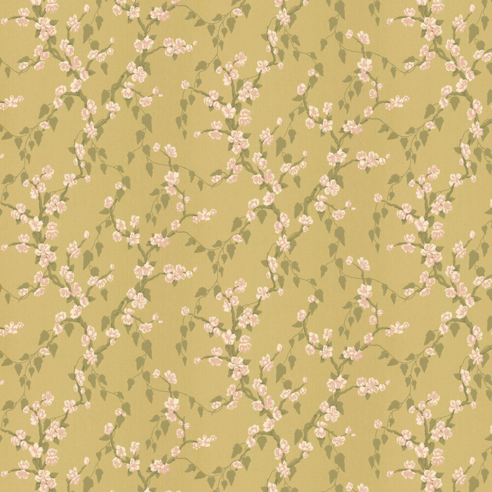 Sakura Wallpaper - Yellow - by Little Greene