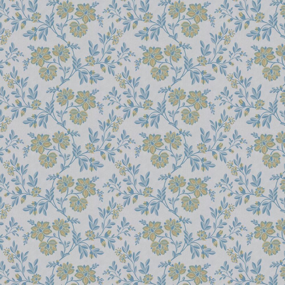 Stitch Wallpaper - Blue - by Little Greene