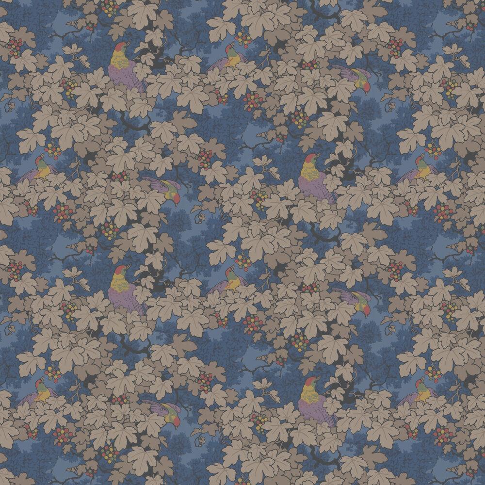 Little Greene Vine Blue Wallpaper - Product code: 0247VIBLEUZ
