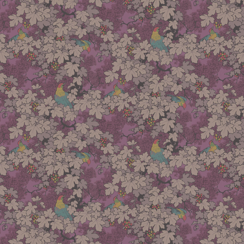 Little Greene Vine Mulberry Wallpaper - Product code: 0247VIROUGE