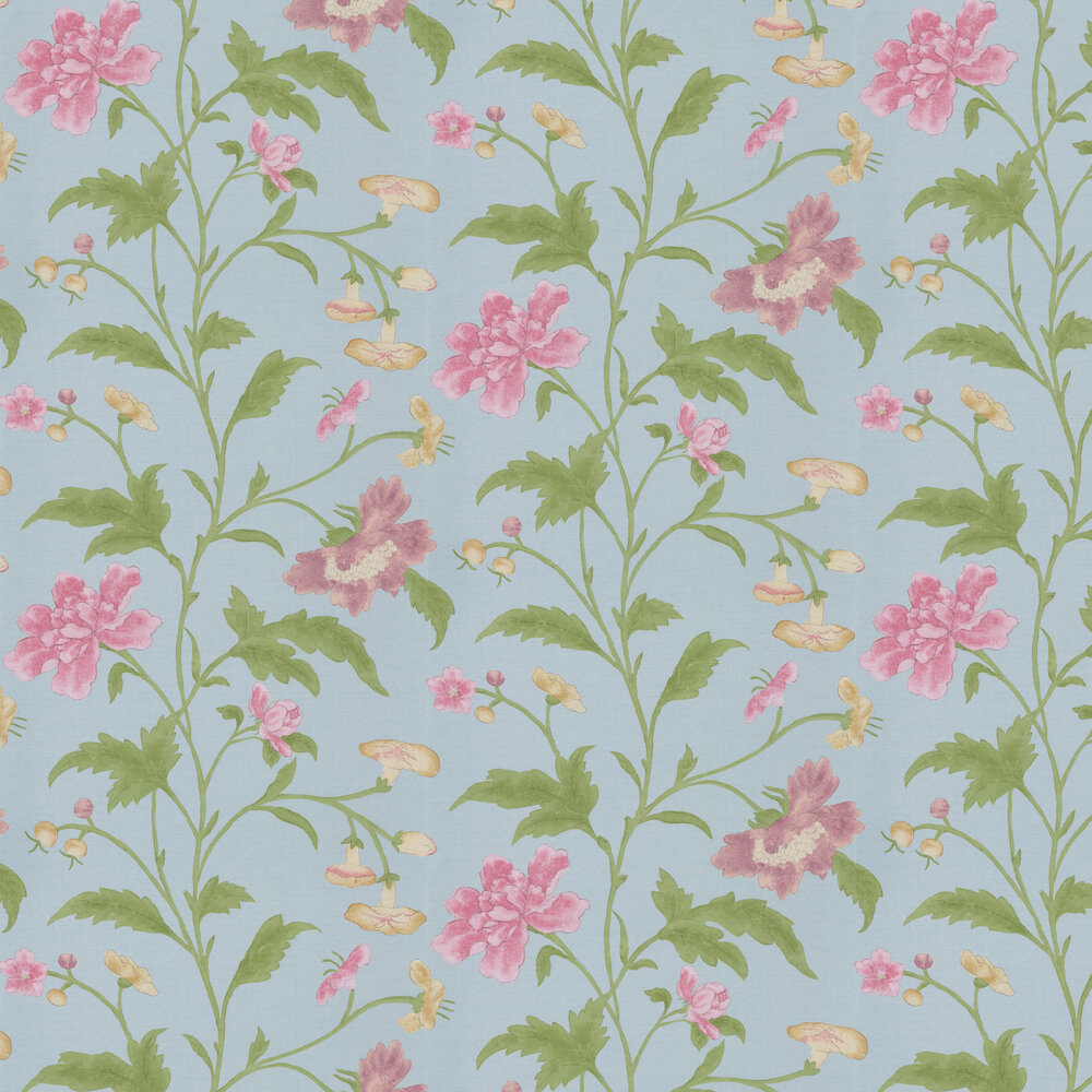 China Rose Wallpaper - China Blue - by Little Greene