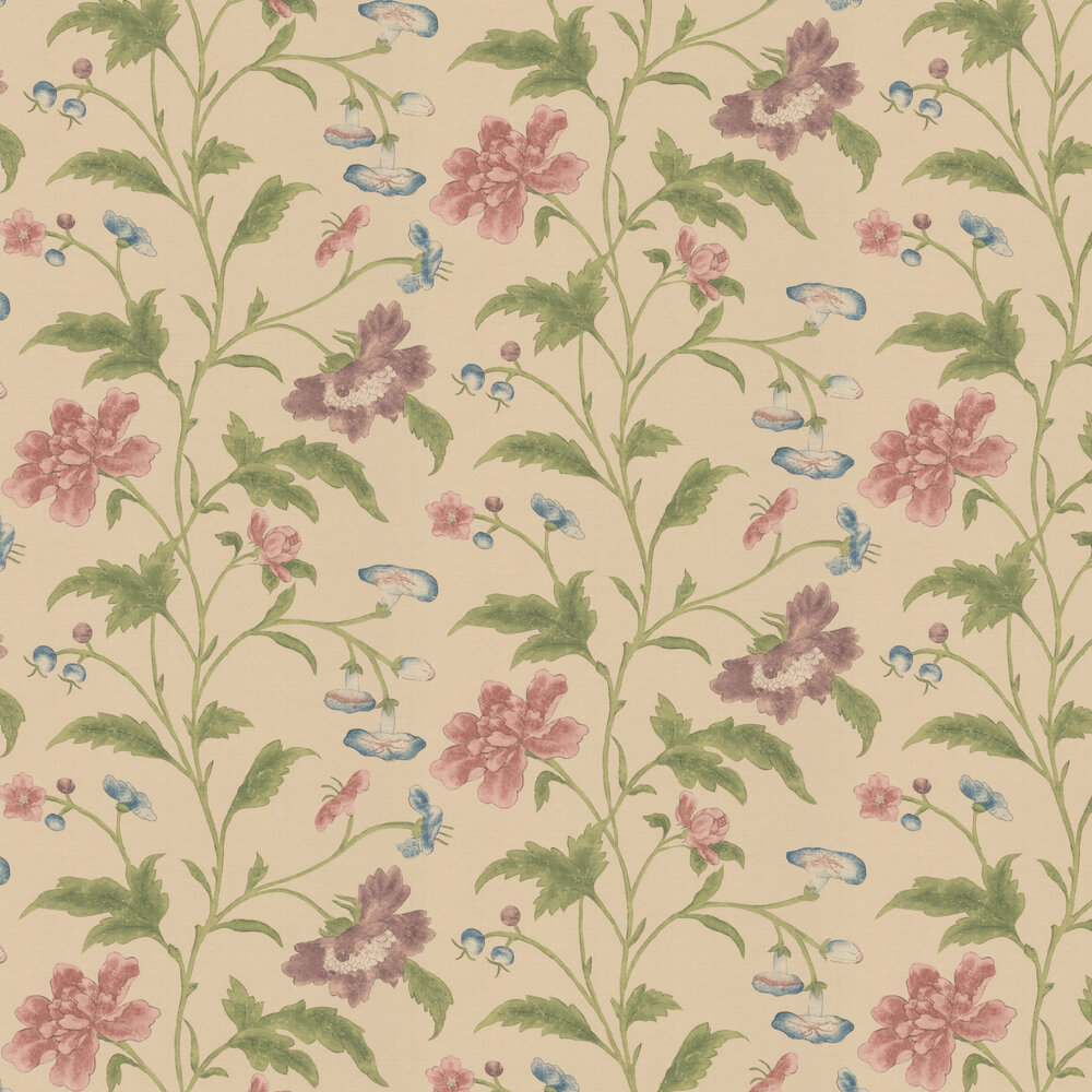 Little Greene China Rose Cream Wallpaper - Product code: 0247CHSAGEZ