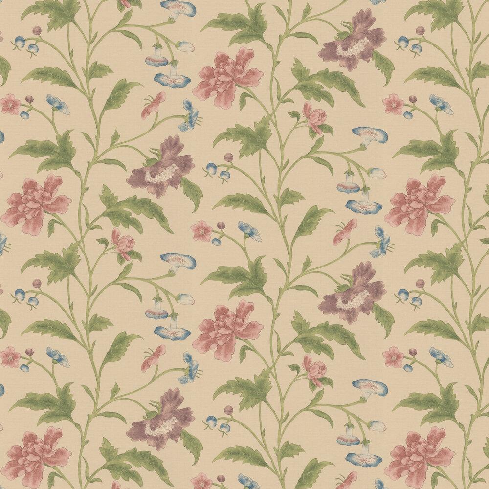 China Rose Wallpaper - Cream - by Little Greene