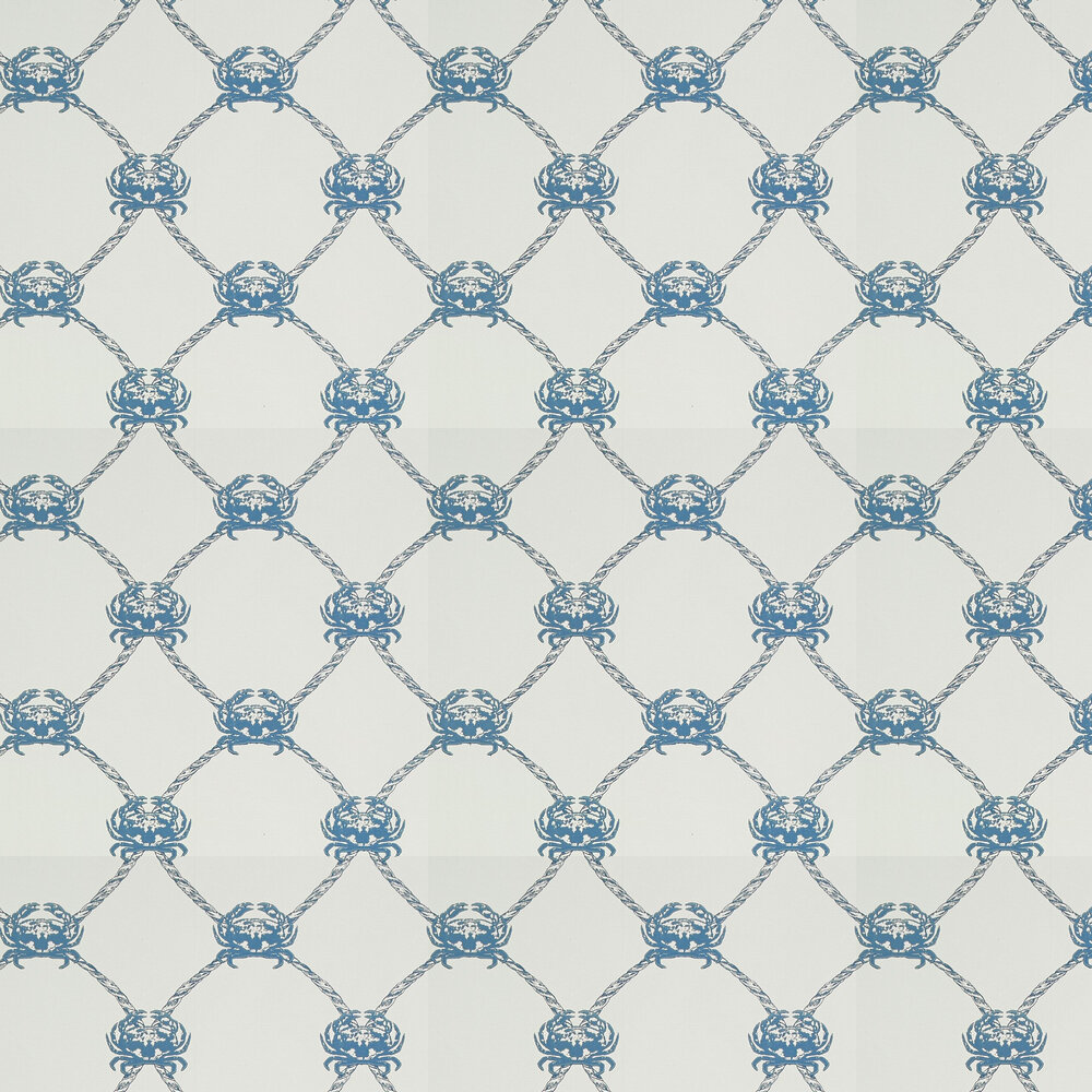 Crab Wallpaper - Marine Blue - by Barneby Gates