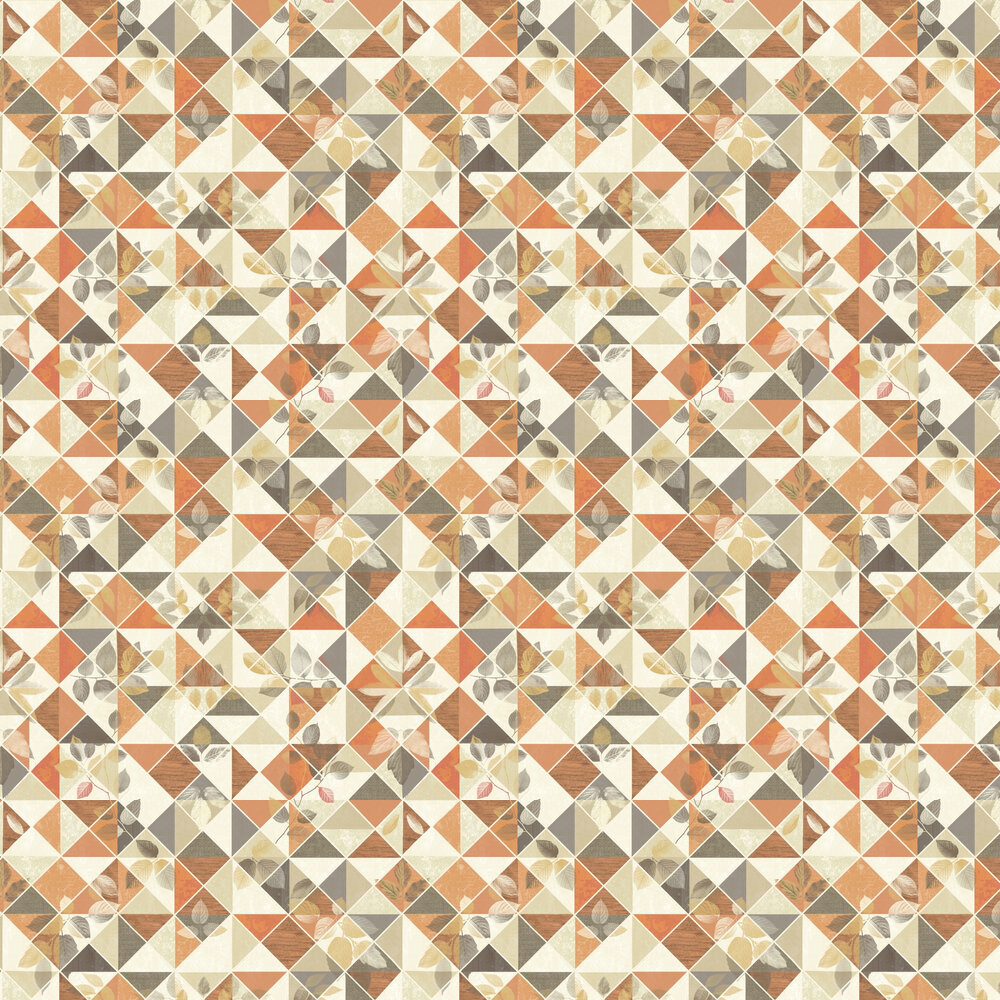 Albany Aster Burnt Orange Wallpaper - Product code: 98530