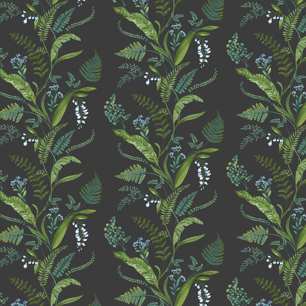 Albany Cembra Charcoal and Green Wallpaper - Product code: 98545