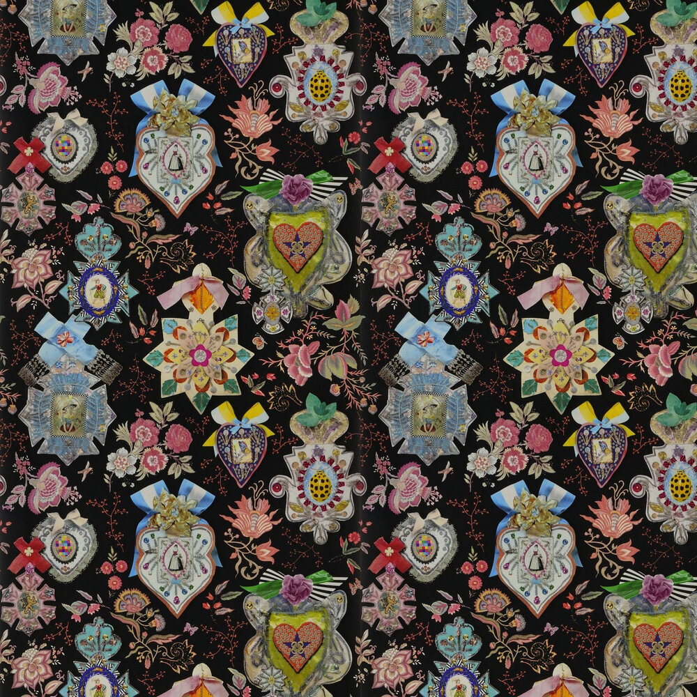 Cocarde Wallpaper - Reglisse - by Christian Lacroix