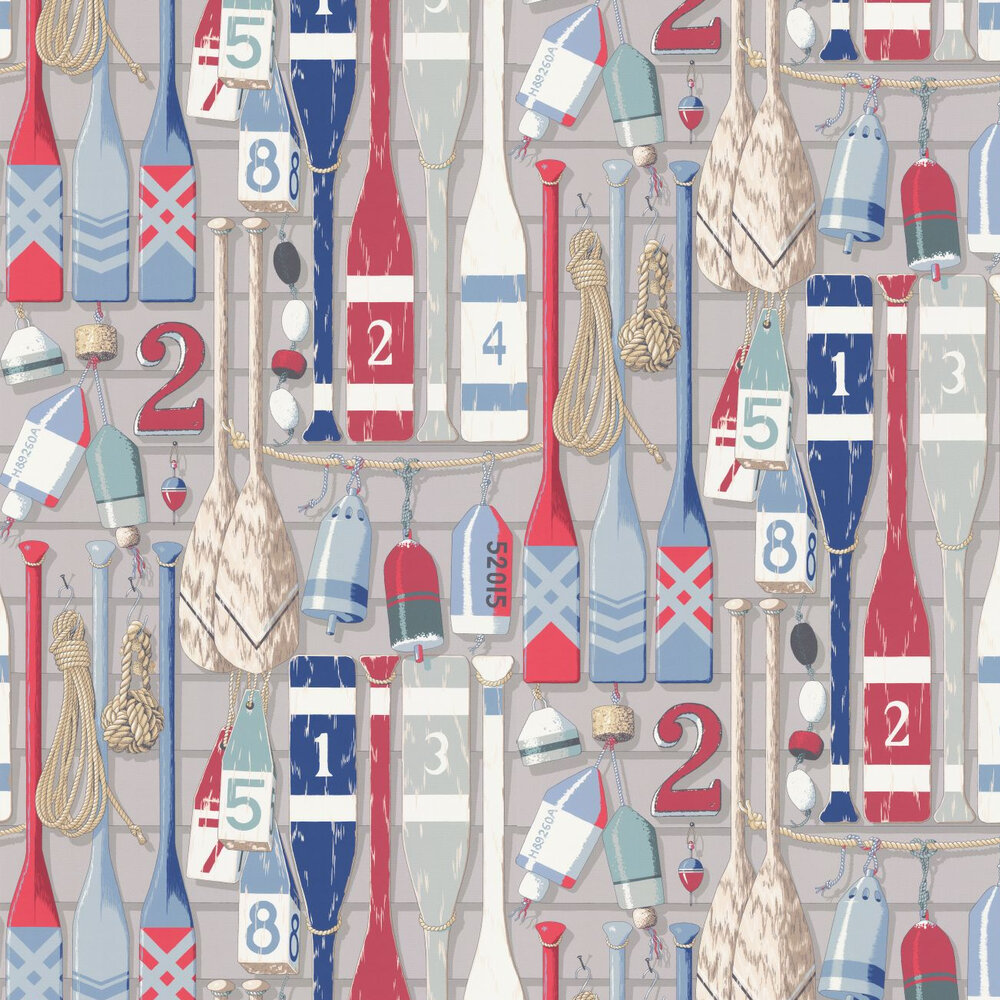 Newport Wallpaper - Marine - by Manuel Canovas