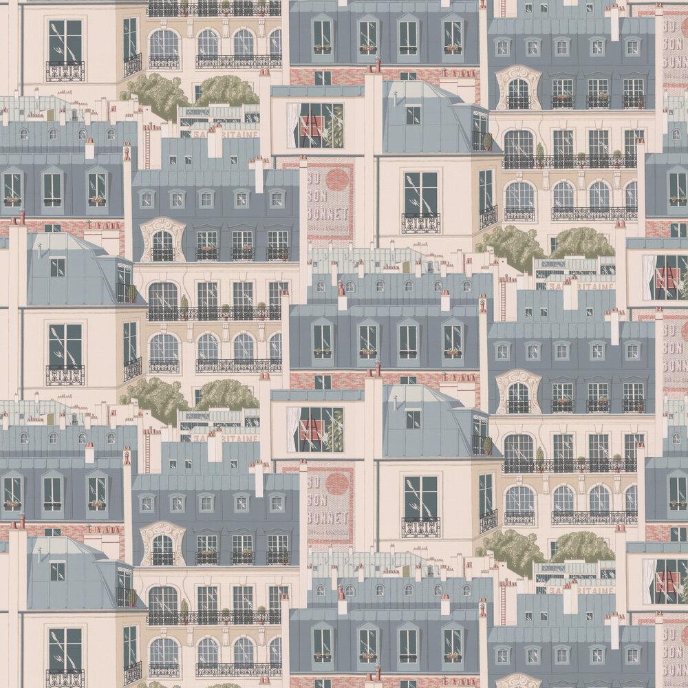 Manuel Canovas Les Toits Paris Vert de Gris Wallpaper - Product code: 3082/01