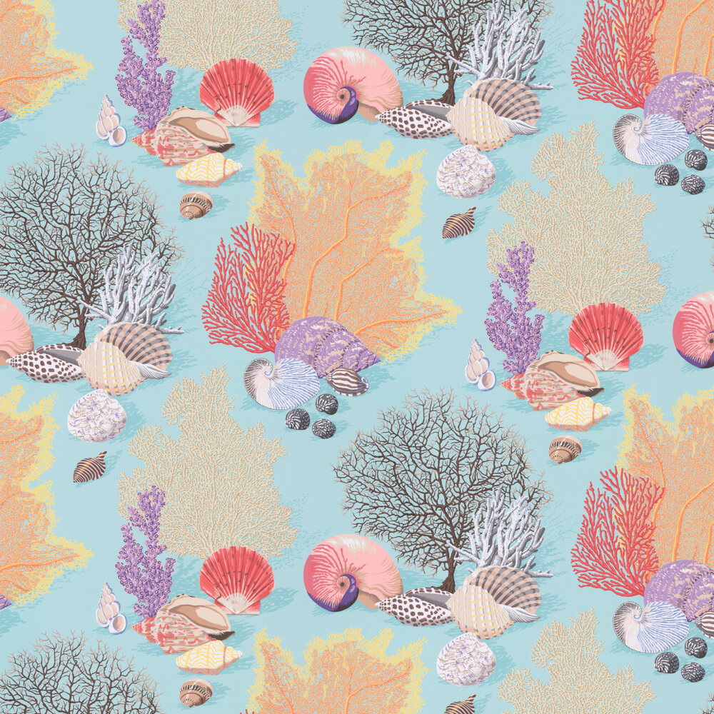 Byron Bay Wallpaper - Turquoise - by Manuel Canovas