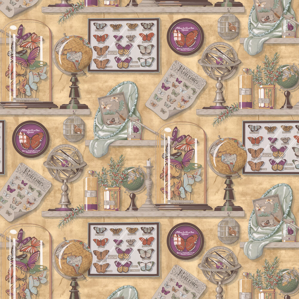 Manuel Canovas Imperialis Ocre Wallpaper - Product code: 3089/03