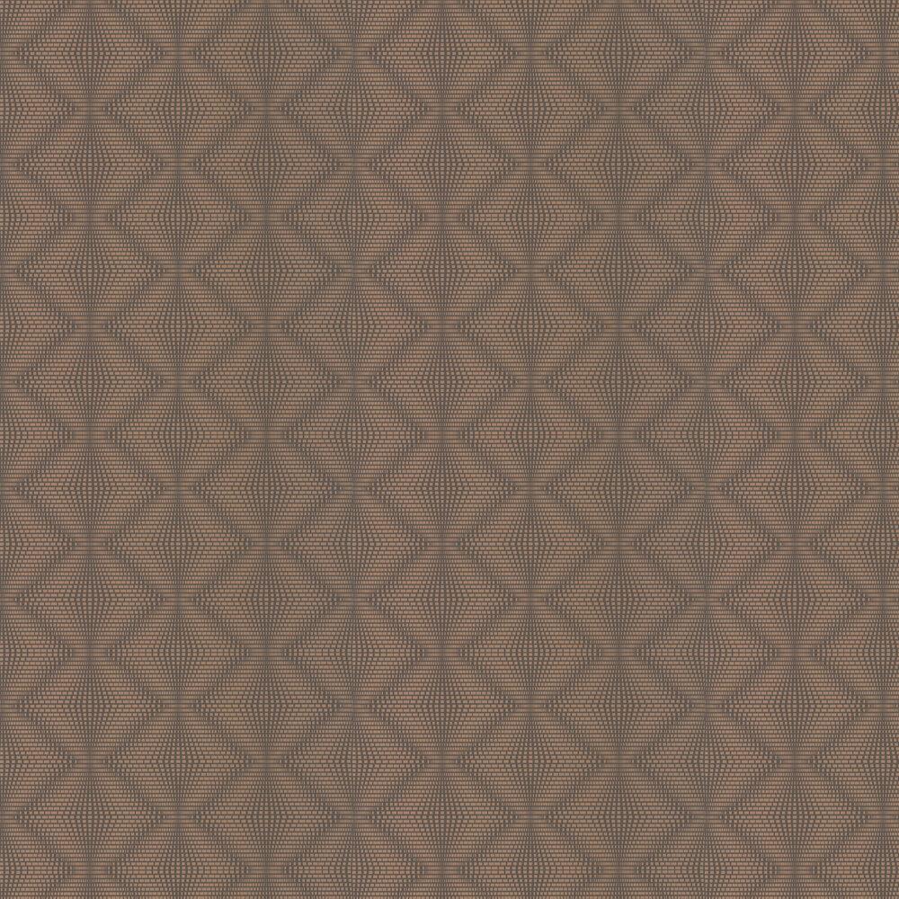 Osborne & Little Ruhlmann Cappuccino & Copper Wallpaper - Product code: W6897-01