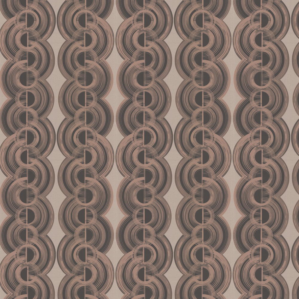 Osborne & Little Lempicka Pale Rose Gold & Black Wallpaper - Product code: W6898-03