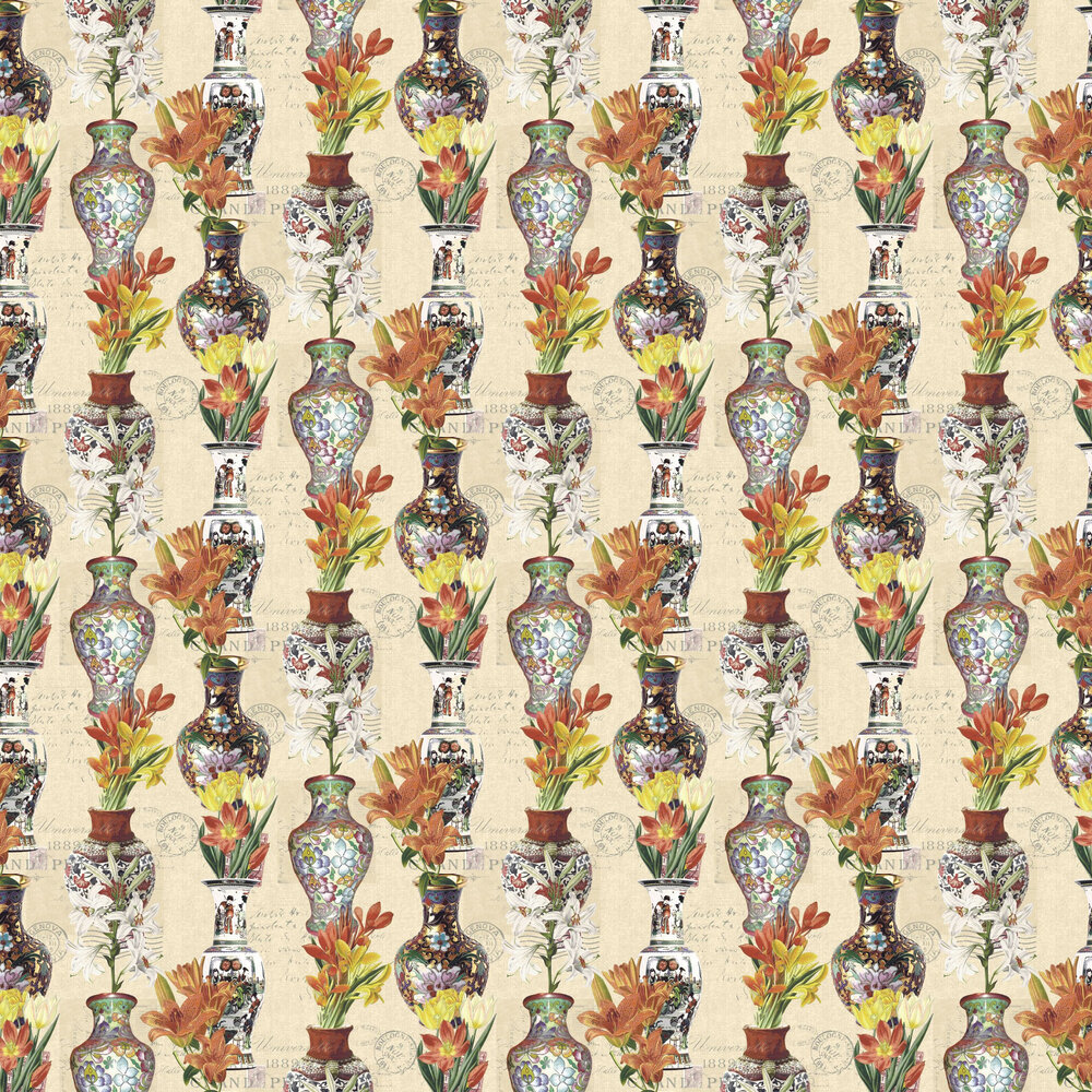 Albany Imari Cream & Silver Wallpaper - Product code: 98611