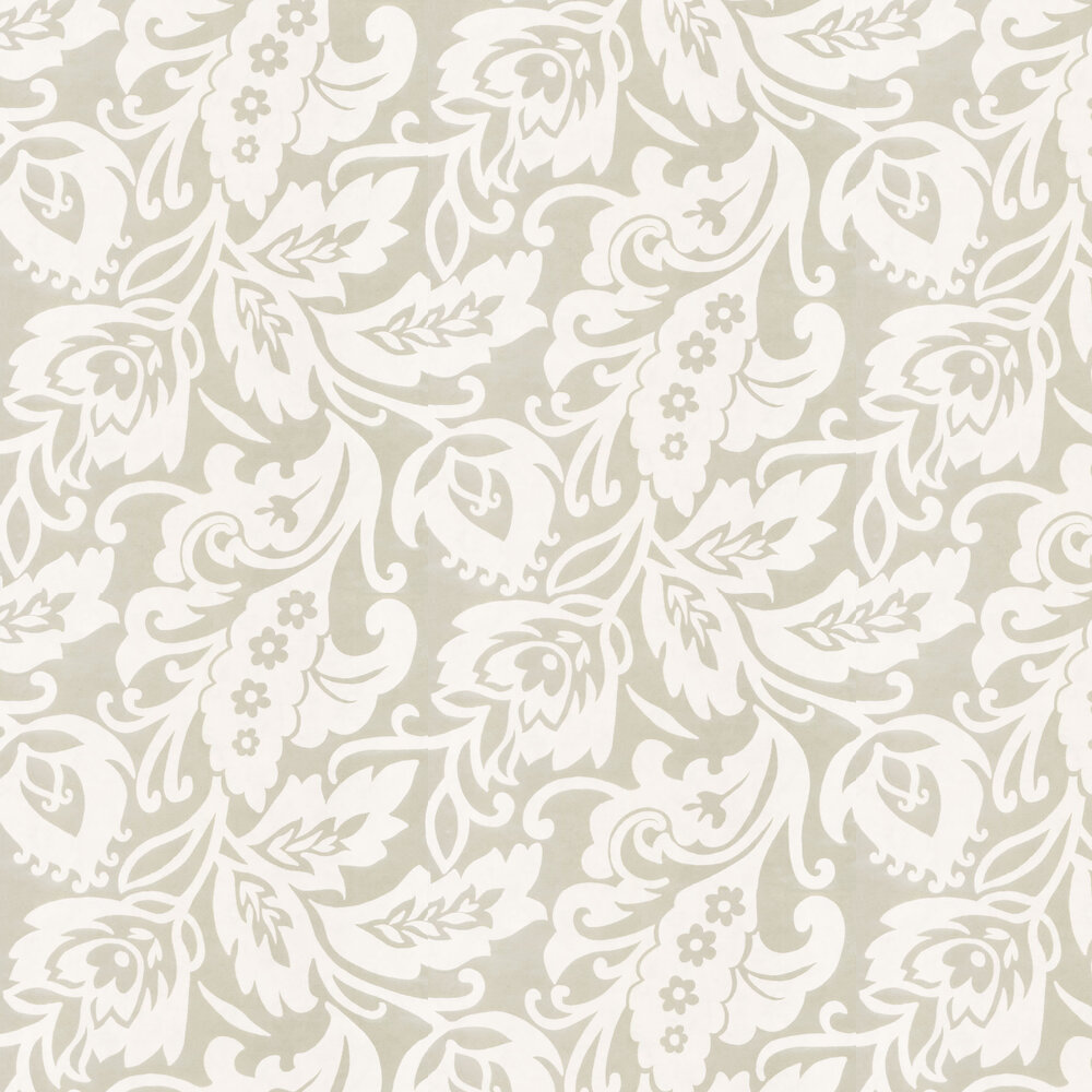 Foil Flock Wallpaper - White - by Eijffinger