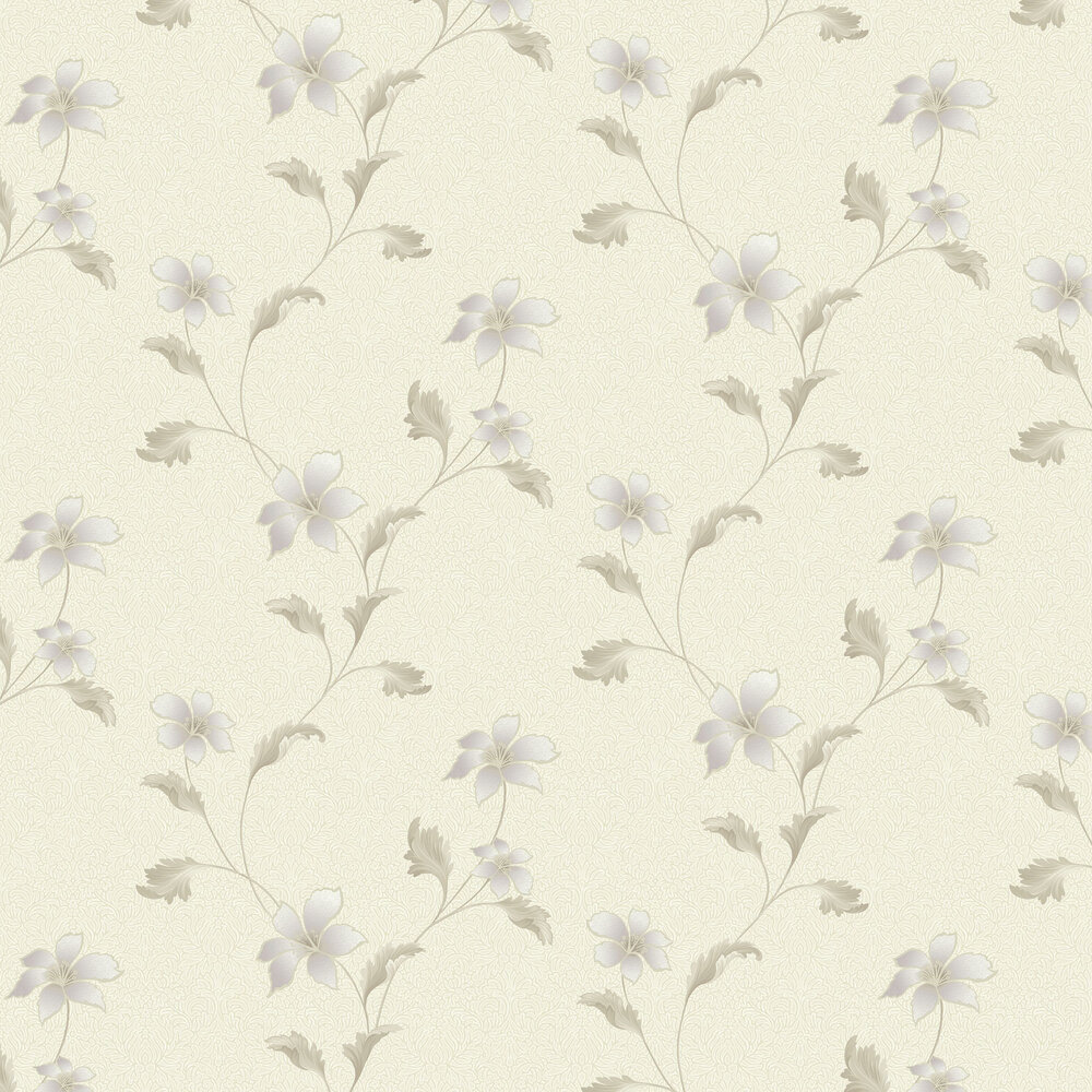 Albany Floriana Heather Cream Wallpaper - Product code: 35300