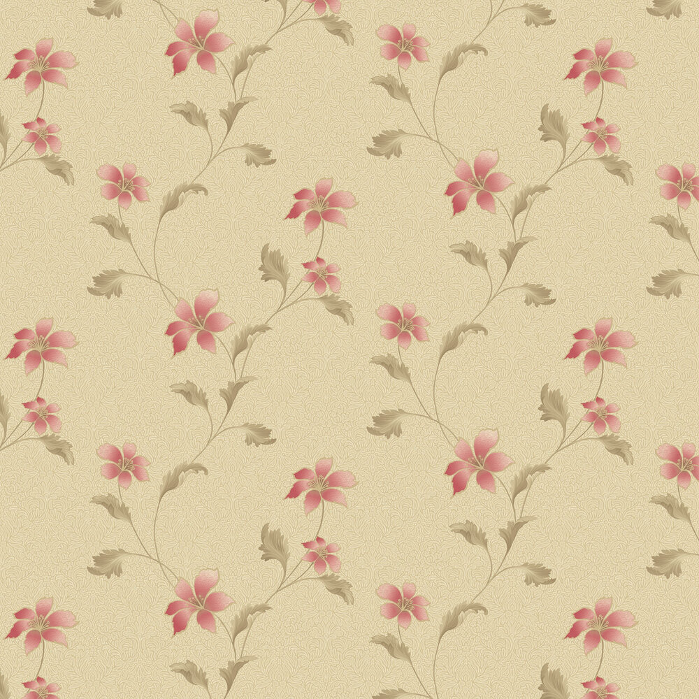 Albany Floriana Red Beige Wallpaper - Product code: 35303