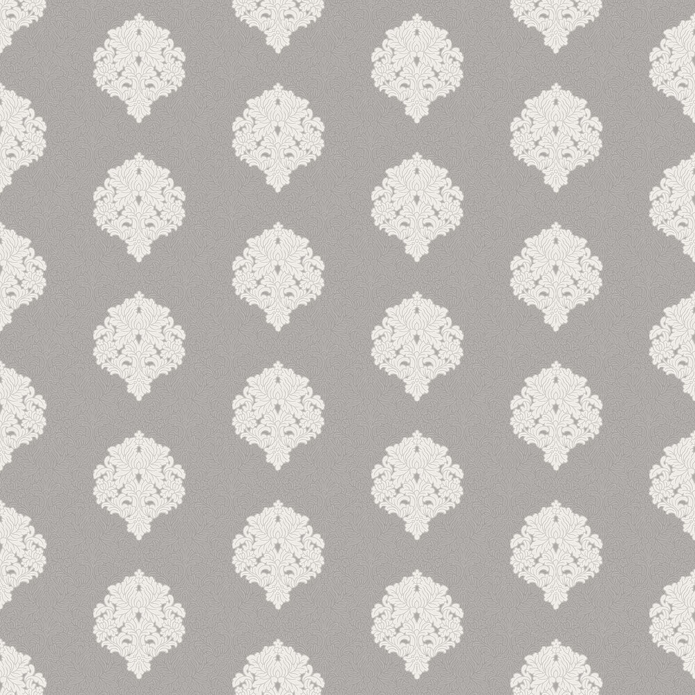 Albany Floriana Damask Grey Wallpaper - Product code: 35343