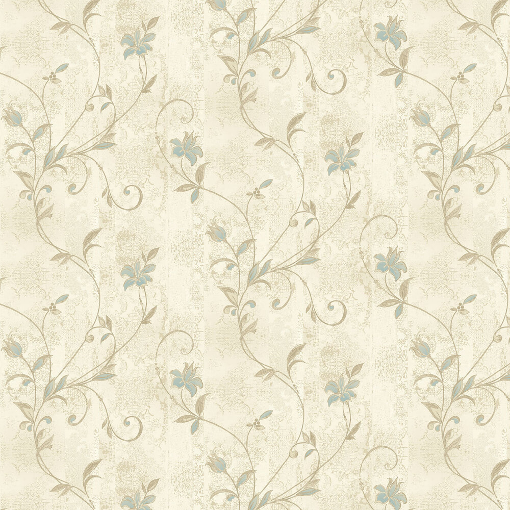 Albany Abelie Teal Cream Wallpaper - Product code: 35323