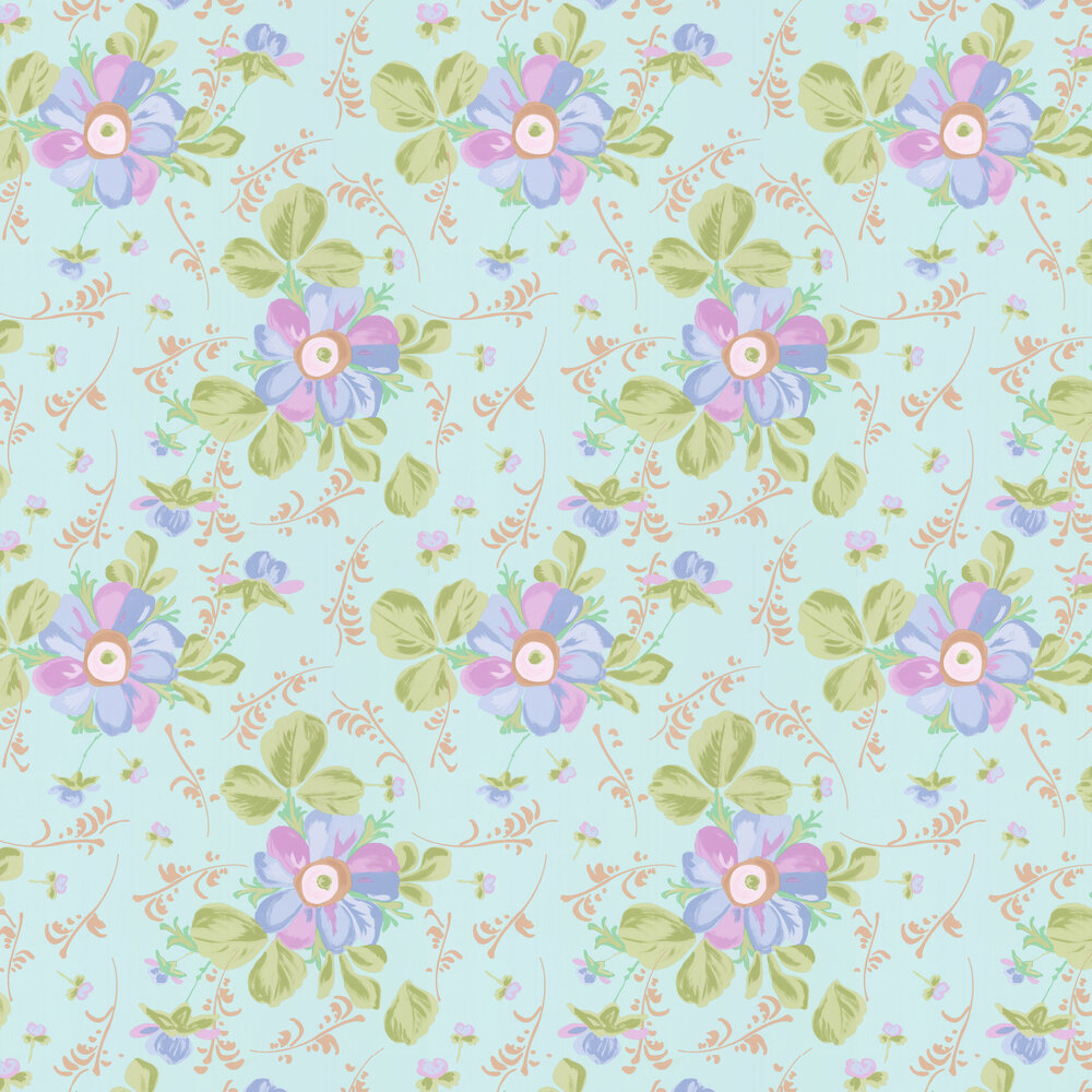Paintery Floral Wallpaper - Green - by Eijffinger