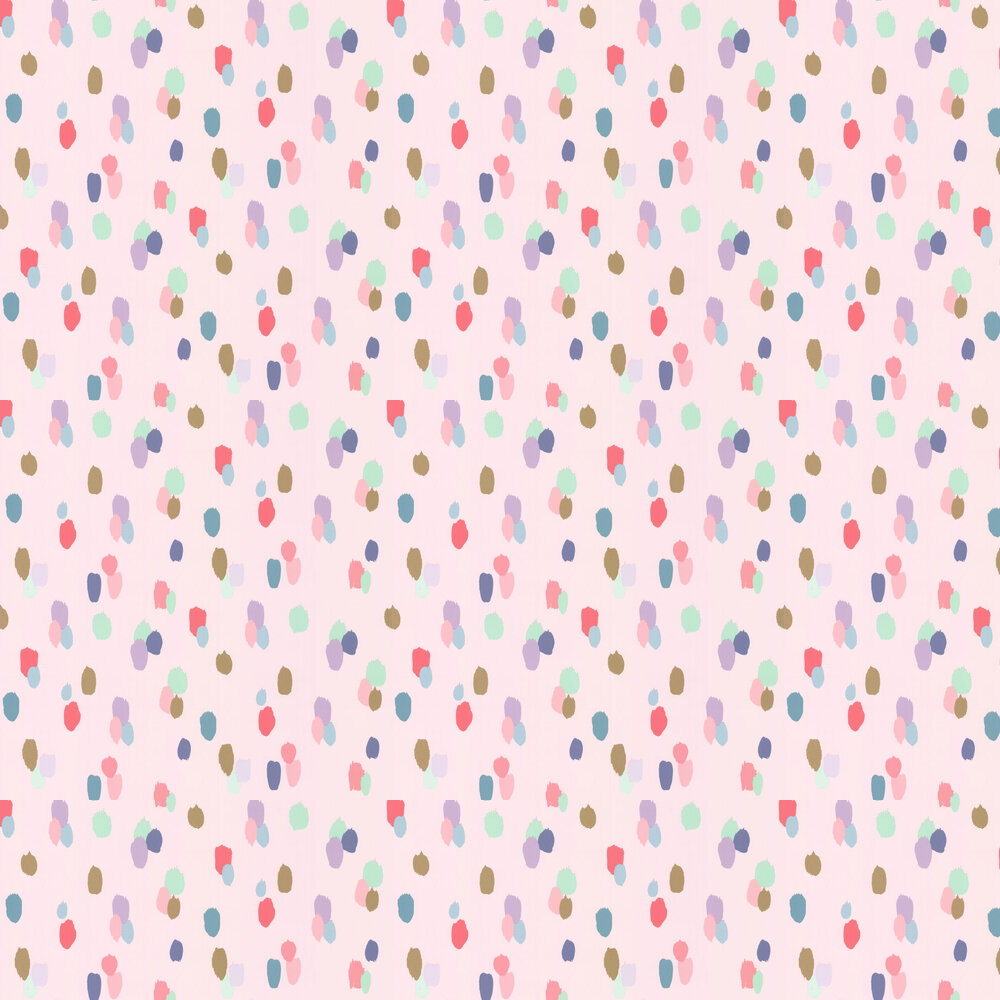 Paint Strokes Wallpaper - Pale Pink - by Eijffinger