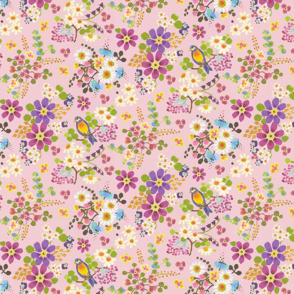Secret Garden Wallpaper - Pink - by Eijffinger