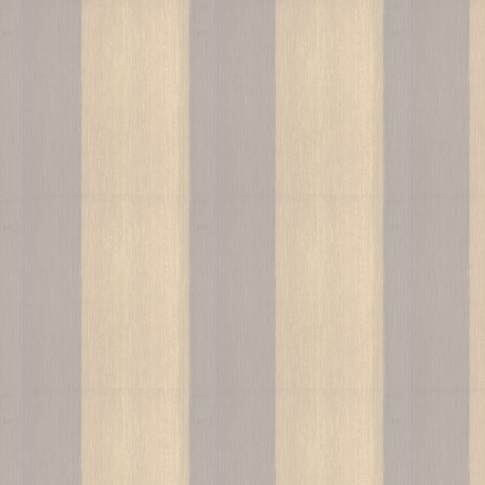 Textured Stripe Wallpaper - Gold - by Casadeco