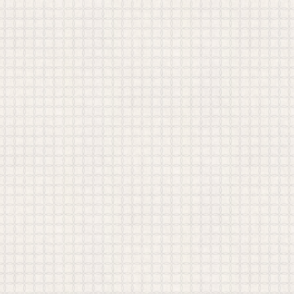 Casadeco Circles Silver Wallpaper - Product code: 26390134