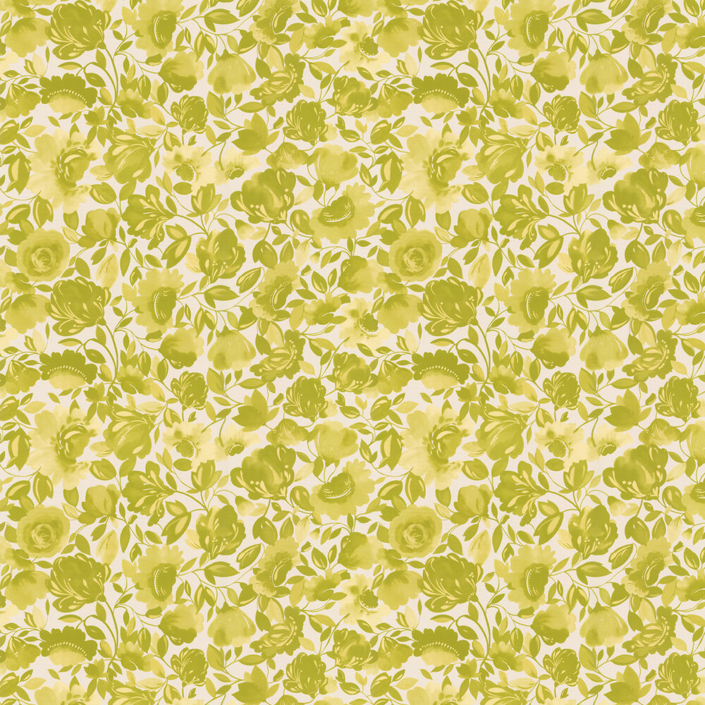 Caitlin Wallpaper - Citrus - by Clarke & Clarke