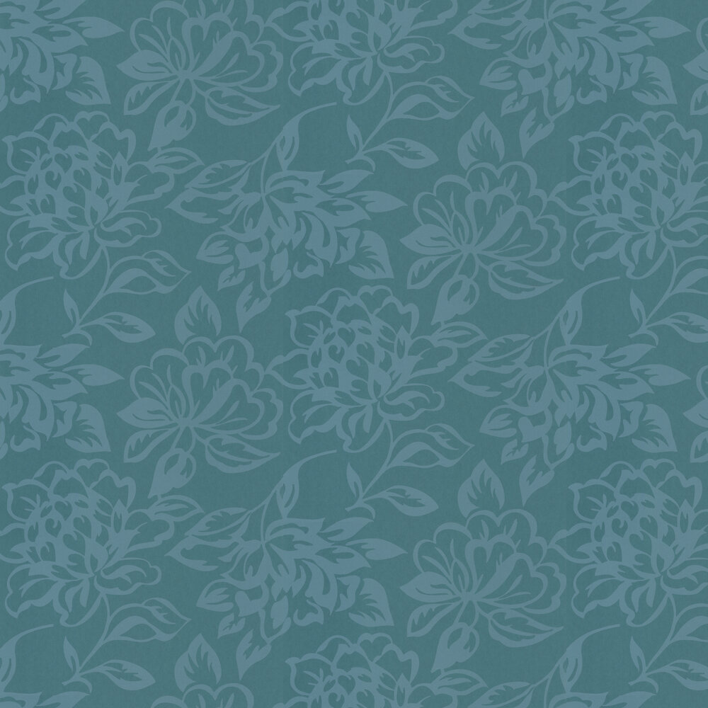Floral Wallpaper - Emerald - by Casadeco