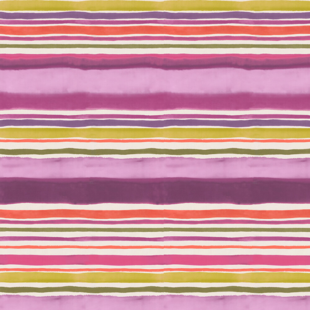 Clarke & Clarke Sunrise Stripe Passion Wallpaper - Product code: W0076/03