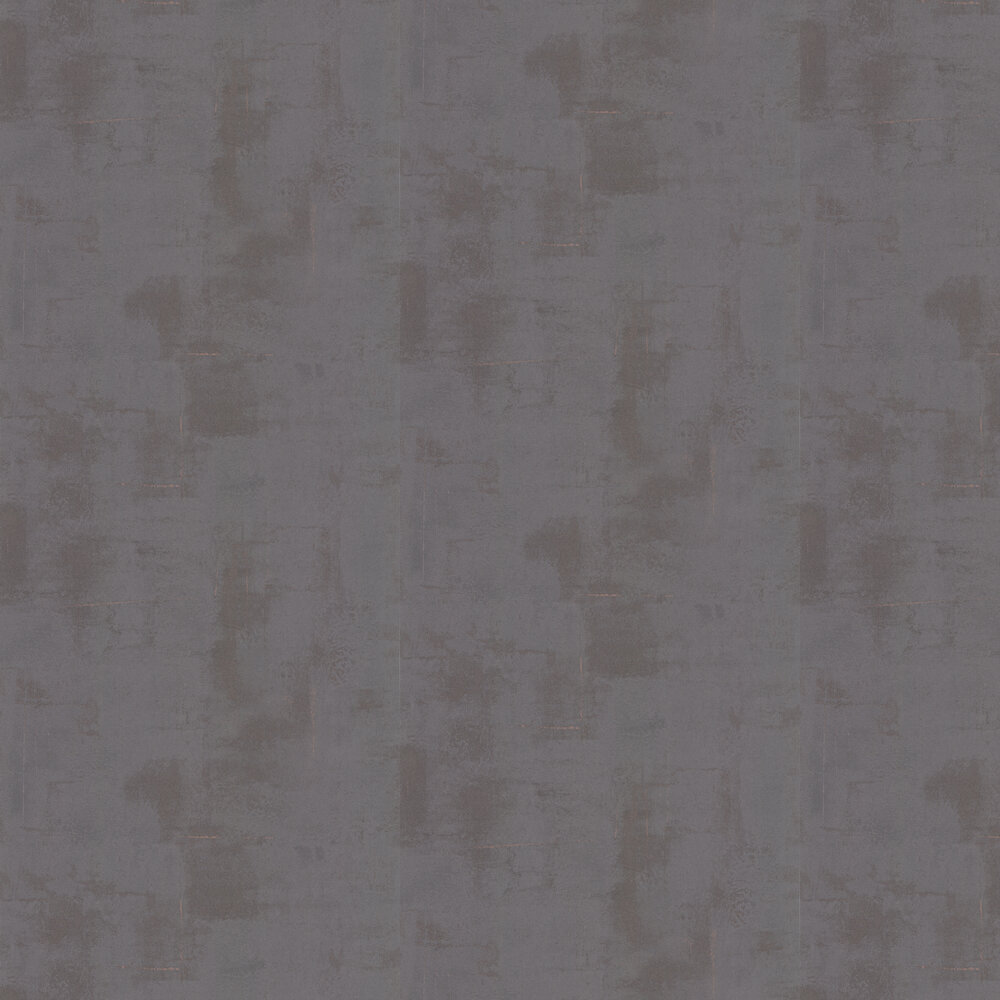 Plaster Wallpaper - Charcoal / Copper - by Casadeco