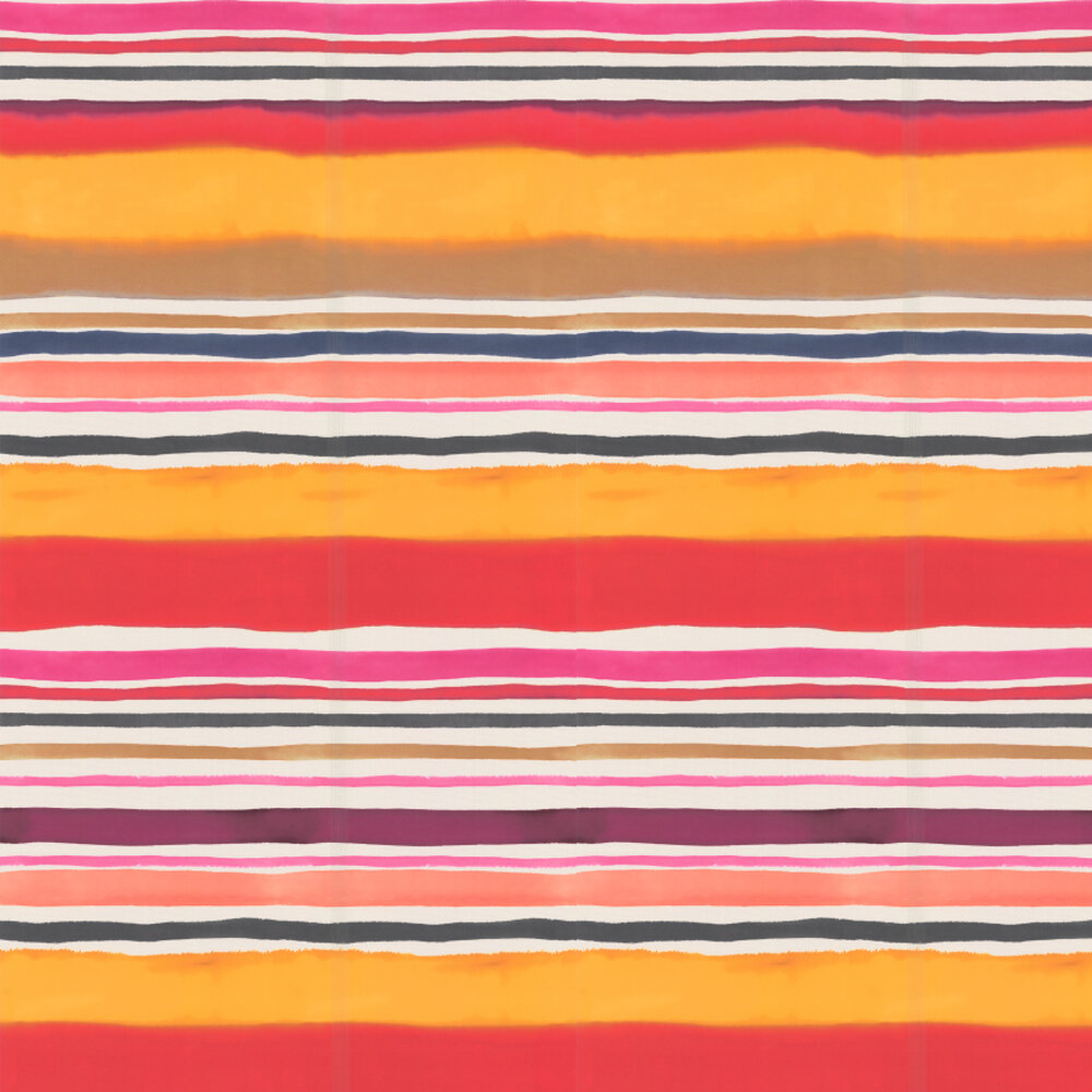 Sunrise Stripe Wallpaper - Spice - by Clarke & Clarke
