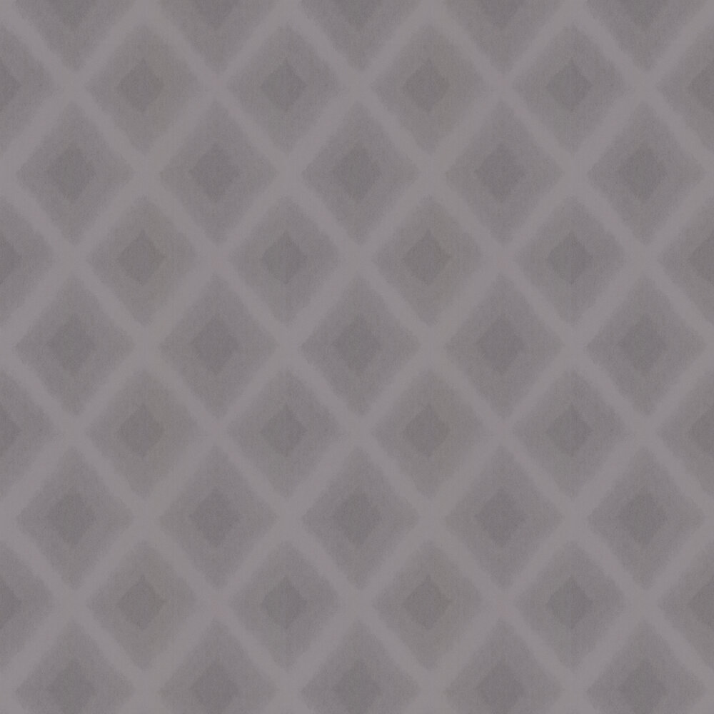 Diamond Motif Wallpaper - Charcoal - by Casadeco