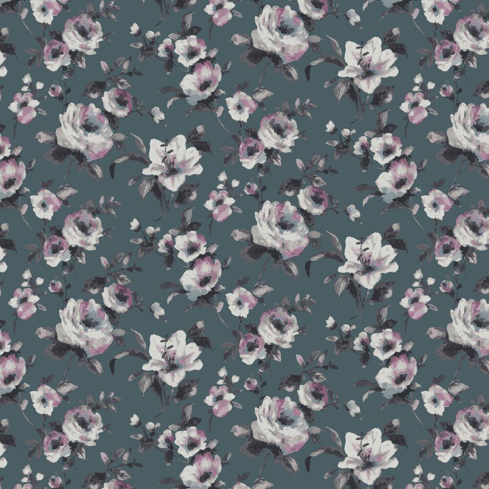 SketchTwenty 3 Rosanna Teal Wallpaper - Product code: LP00304