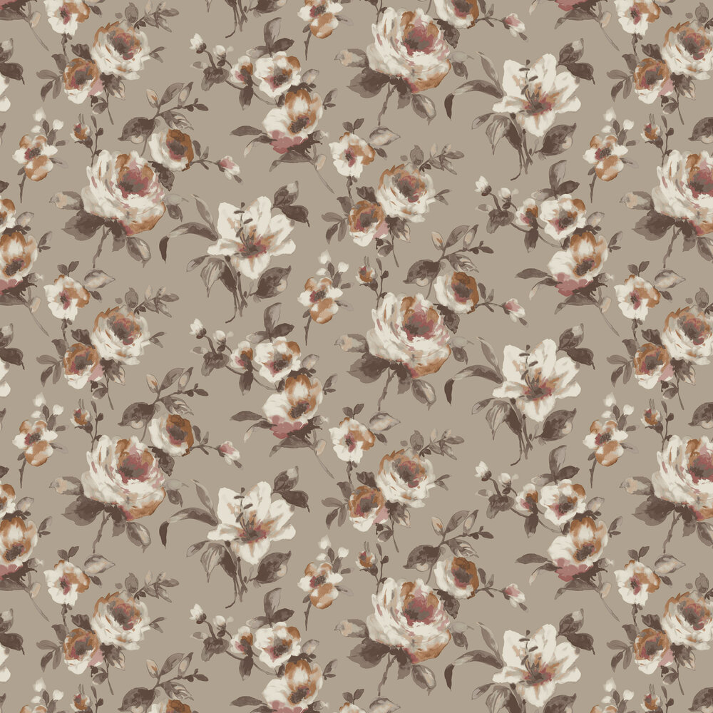 Rosanna Wallpaper - Taupe - by SketchTwenty 3